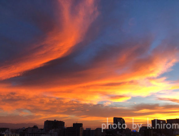 朝が来る!空を彩るアートグラフィ