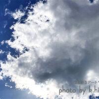 顔のような雲 空を彩るアートグラフィ