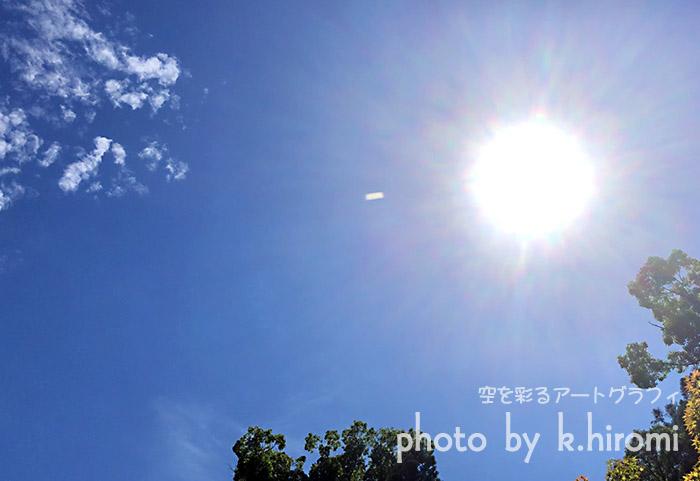 天空に白っぽい飛行物体